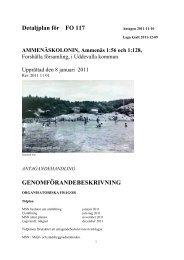 Detaljplan för FO 117 GENOMFÖRANDEBESKRIVNING - Uddevalla ...