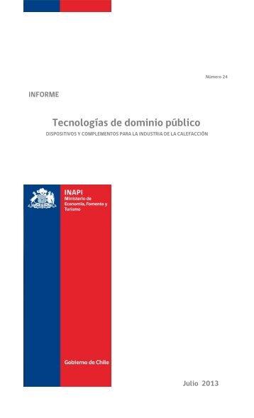 Tecnologías de dominio público - Inapi Proyecta