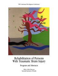 Rehabilitation of Persons With Traumatic Brain Injury