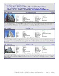 Byward Market Condos HotSheet - Top Producer® Websites ...