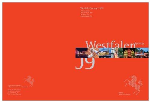 Dokumentation 2009 - Westfalen Initiative