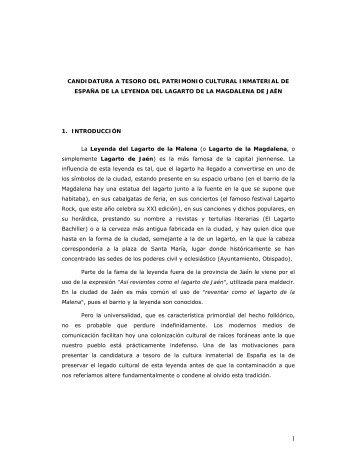 candidatura de la leyenda - Ayuntamiento de Jaén