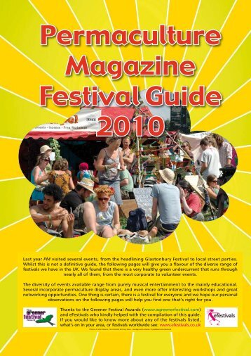 Permaculture Magazine Festival Guide 2010