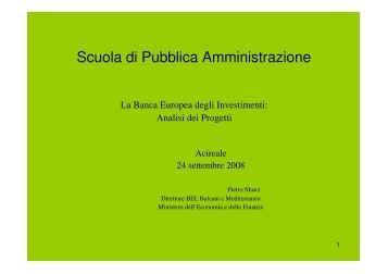 Scuola di Pubblica Amministrazione - Programma per l'Italia