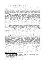 ATATÜRK'ÜN DİN VE LAİKLİK ANLAYIŞI Dr. Şule Sevinç KİŞİ ...