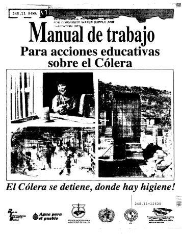 Manual de trabajo para acciones educativas sobre el cólera