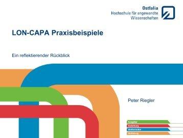 PowerPoint Präsentation einer Hochschule mit ... - Lon Capa