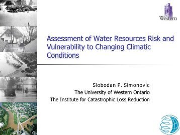 Assessment of Water Resources Risk and Vulnerability to Changing ...