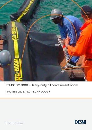 RO-BOOM 1000 - Heavy-duty oil containment boom - Desmi