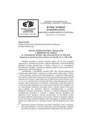RYNEK ENERGII ELEKTRYCZNEJ: - CIRE.pl