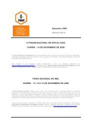 Setembro 2009 X FÓRUM NACIONAL DE APICULTURA ... - Apinews