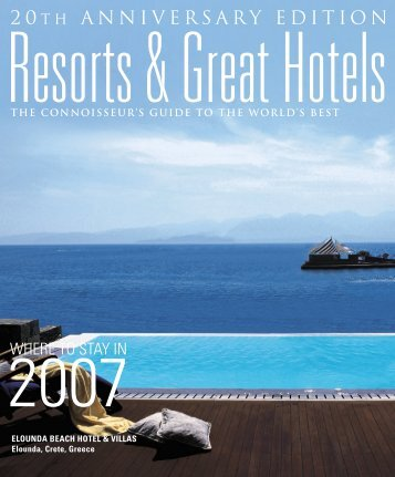 resorts great hotels2007 - Elounda Beach Hotel