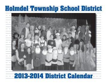 District Calendar/Handbook - Holmdel