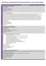 professional and professional development workshops in ... - USM