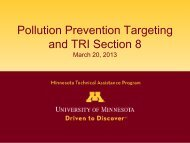 Pollution Prevention Targeting and TRI Section 8