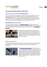 Newsletter April 2012 (.pdf, 314 KB) - DANUBEPARKS