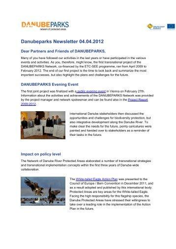 Newsletter April 2012 (.pdf, 314 KB) - DANUBEPARKS
