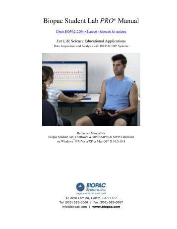 BSL PRO 4 Manual - Biopac