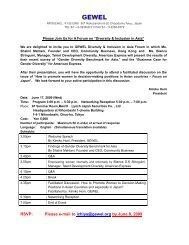 GEWEL Diversity & Inclusion Forum on 17 June - Community Business