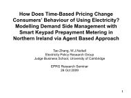 How Does Time-based Pricing Change Consumers - Electricity ...