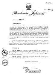 directiva n° 019-2011-me/sg-oga - Ministerio de Educación