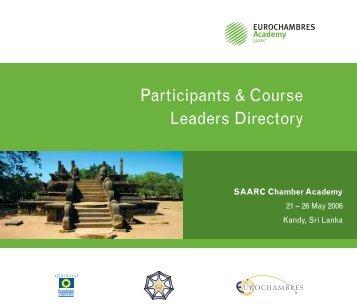 Participants & Course Leaders Directory - Eurochambres Academy