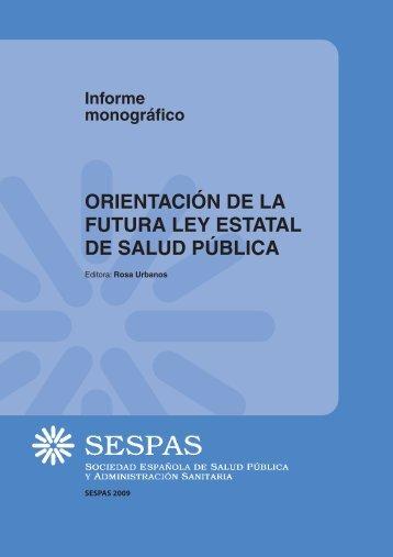 Orientación de la futura ley estatal de Salud Pública - Sespas