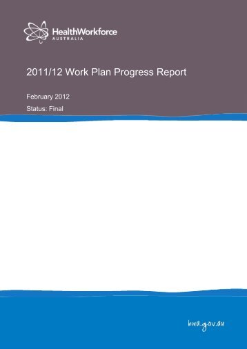 2011/12 Work Plan Progress Report - Health Workforce Australia