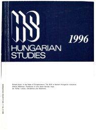 HUNGARIAN STUDIES 11. No. 2. Nemzetközi Magyar ... - EPA