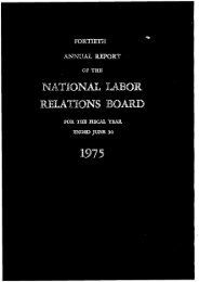 Operations In Fiscal Year 1982 - National Labor Relations Board