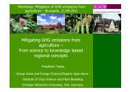 Mitigating GHG emissions from agriculture – from ... - Hanse Office