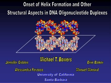 Onset of Helix Formation and Other Structural Aspects in DNA ...