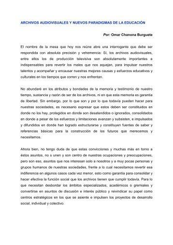 Archivos audiovisuales y nuevos paradigmas de la ... - RedIRIS