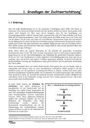 1. Grundlagen der Zuchtwertschätzung