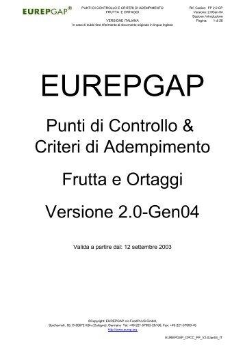 Scarica il protocollo EUREPGAP - AgriOK