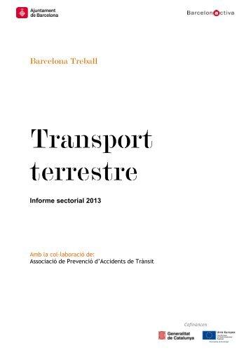 Informe sectorial: Transport terrestre - Barcelona Treball