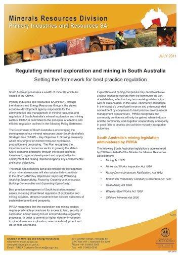 Setting the framework - PIRSA - SA.Gov.au