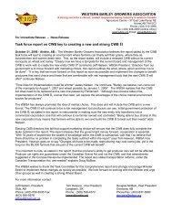 WESTERN BARLEY GROWERS ASSOCIATION