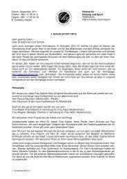 1. Schulbrief 2011/2012 - Käthe-Kollwitz-Gymnasium - Referat für ...