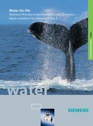 Water for life Siemens Process Instrumentation and ... - SETAMS SA