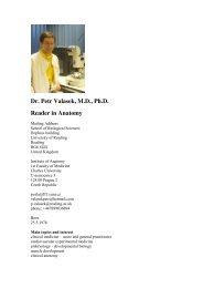 Dr. Petr Valasek, M.D., Ph.D. Reader in Anatomy - Anatomický ústav ...