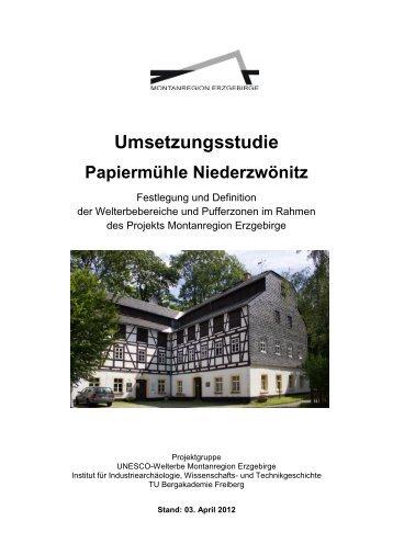 Umsetzungsstudie Papiermühle Niederzwönitz