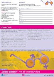 Gender Medicine - Frauengesundheit-Wien