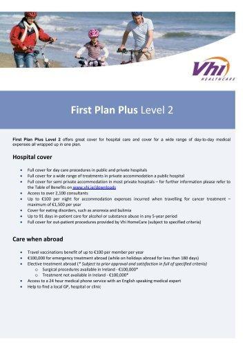 First Plan Plus Level 2 - Vhi