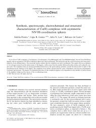 Synthesis, spectroscopic, electrochemical and structural ...