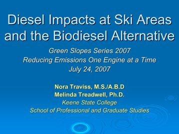 Diesel Impacts at Ski Areas and the Biodiesel Alternative
