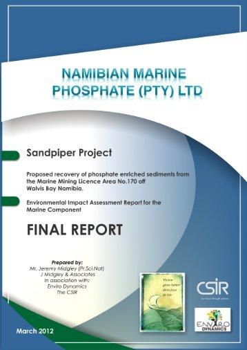 Cover Summary - Enviro Dynamics Namibia