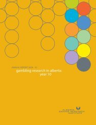 2010 Annual Report - Alberta Gambling Research Institute