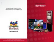 Digital Signage from - ViewSonic