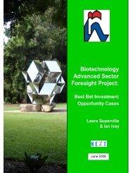 Biotech Advanced Best Bets - NIHERST